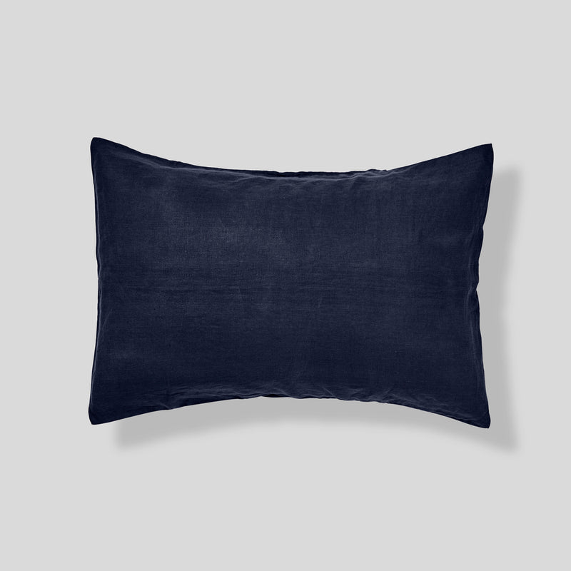 100% Linen Pillowslip Set (of two) in Navy