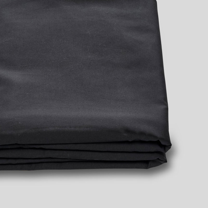 Percale Cotton Flat Sheet in Charcoal