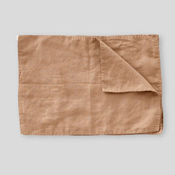 100% Linen Placemat Set in Chestnut