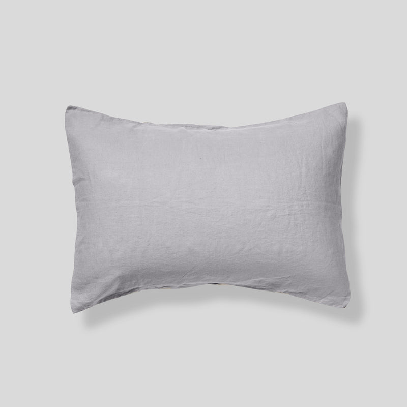 100% Linen Pillowslip Set (of two) in Cool Grey