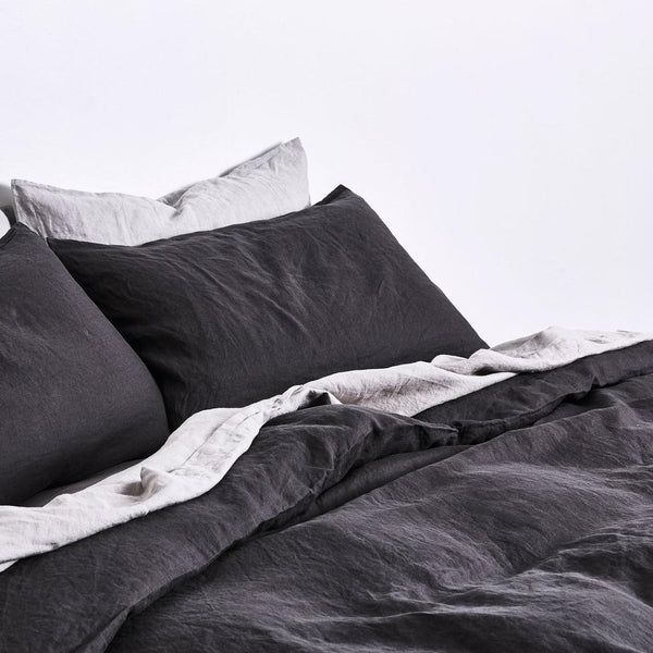 Linen Duvet Cover in Kohl