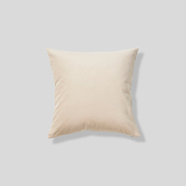 Organic cotton cushion in Sand - square