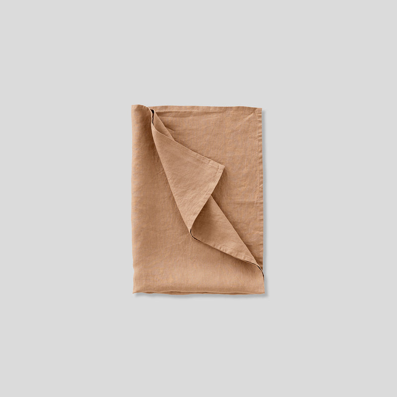 100% Linen tea towel in chestnut