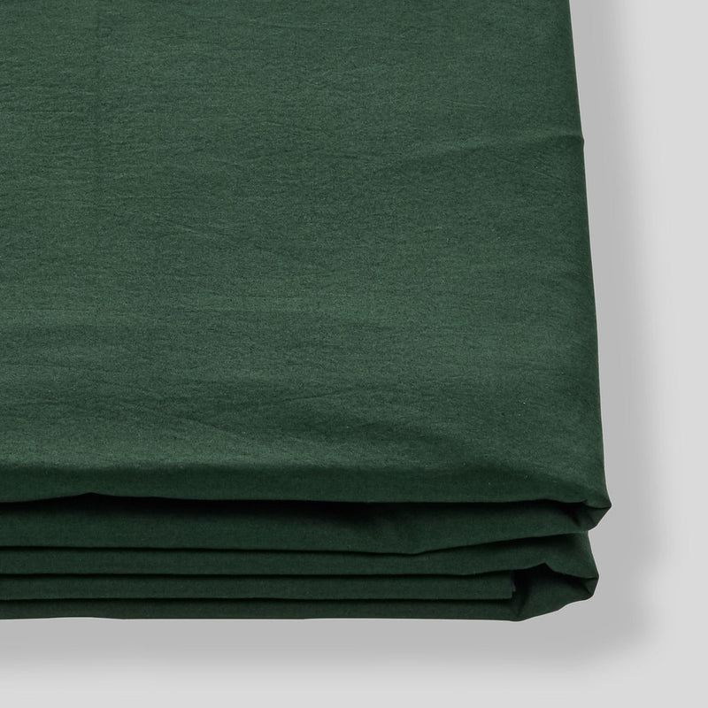 Washed Cotton Fitted Sheet in Forest