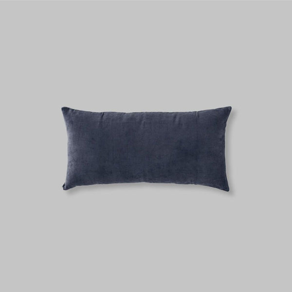 Organic cotton cushion in Midnight- rectangle