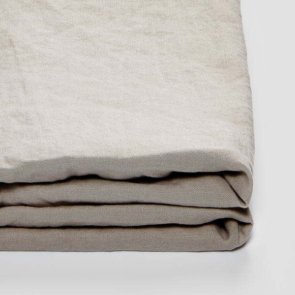 100% Linen Fitted Sheet in Dove Grey