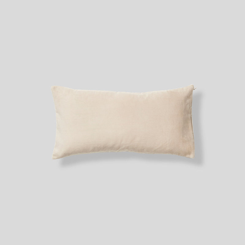 Organic cotton cushion in Sand - rectangle