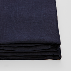 100% Linen Fitted Sheet in Navy
