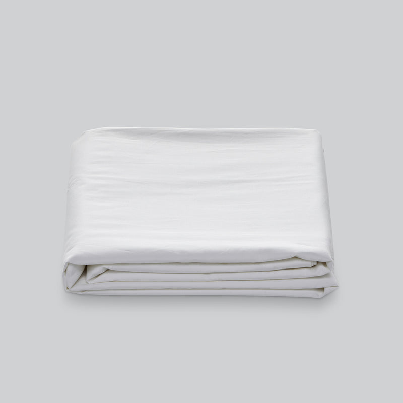 Percale Cotton Duvet Cover in White