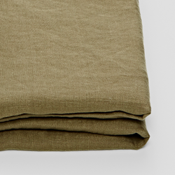100% Linen Fitted Sheet in Moss
