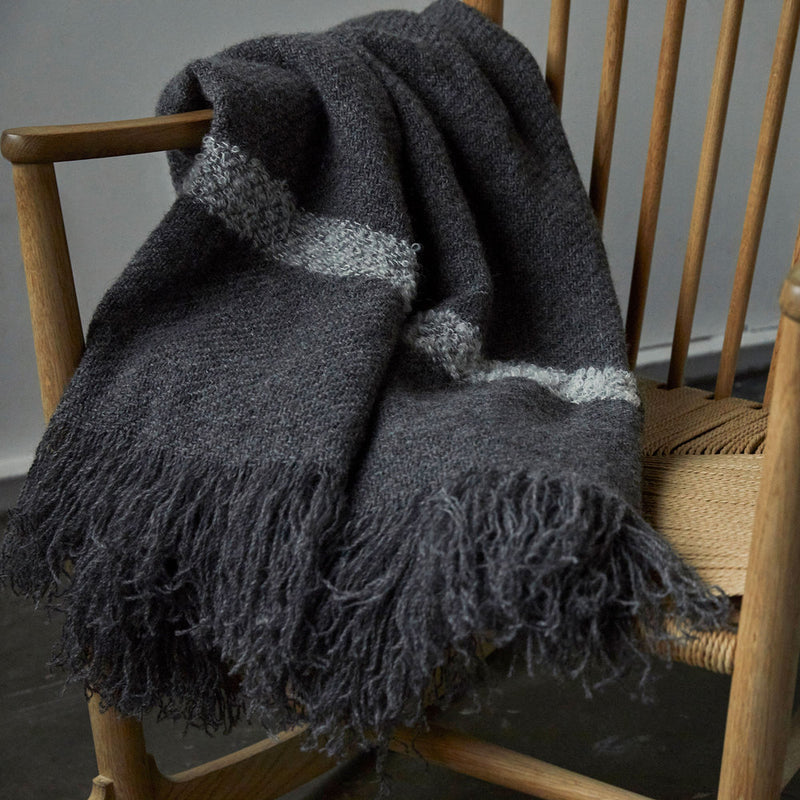 Stansborough Lambswool Throw in Grey