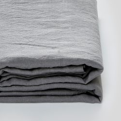 100% Linen Fitted Sheet in Cool Grey