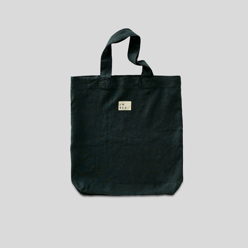 100% Linen Market Bag in Pine