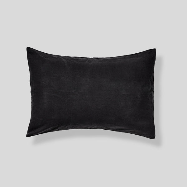 100% Linen Pillowslip Set (of two) in Kohl