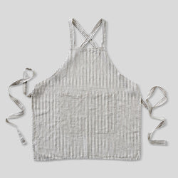 100% Linen Apron in Stripe