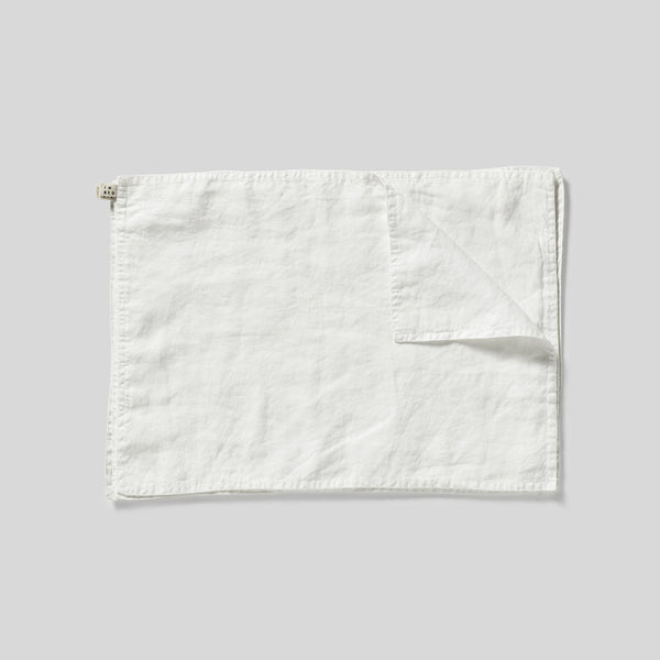 100% Linen Placemat Set in White