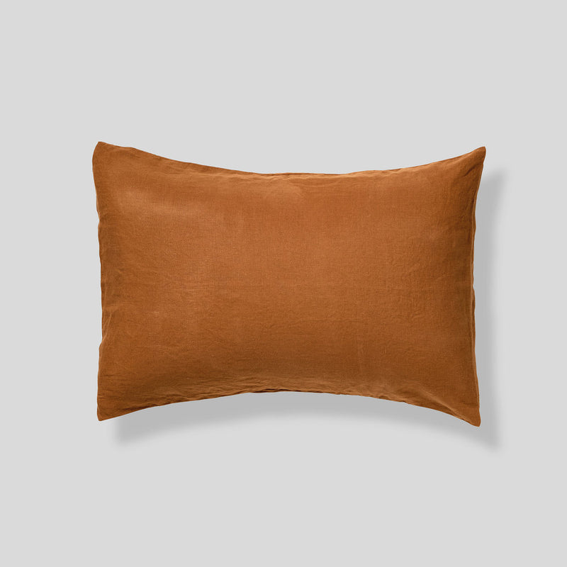 100% Linen Pillowslip Set (of two) in Tobacco