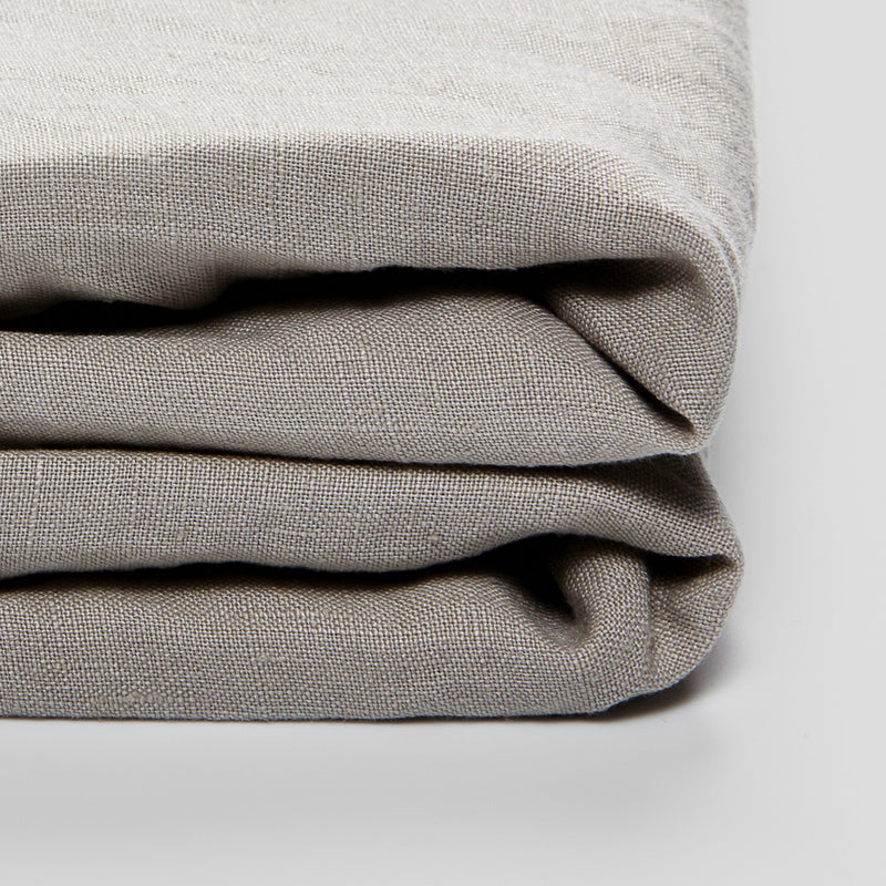 100% Linen Duvet Cover in Dove Grey