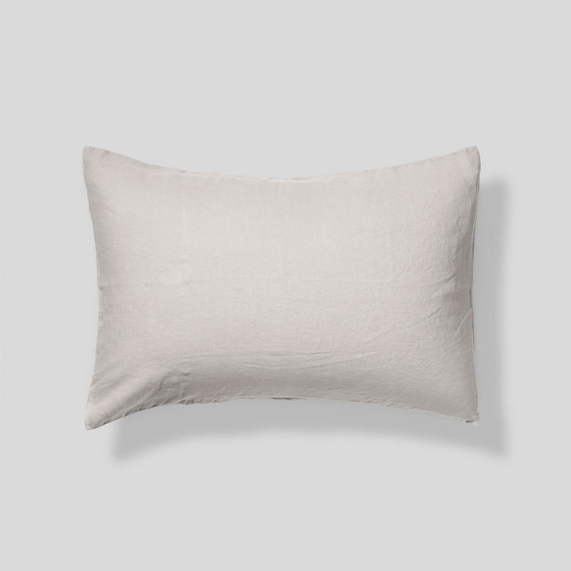 100% Linen Pillowslip Set (of two) in Dove Grey