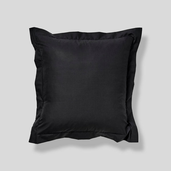 Percale Cotton Pillowslip Set (sets of 2) in Charcoal