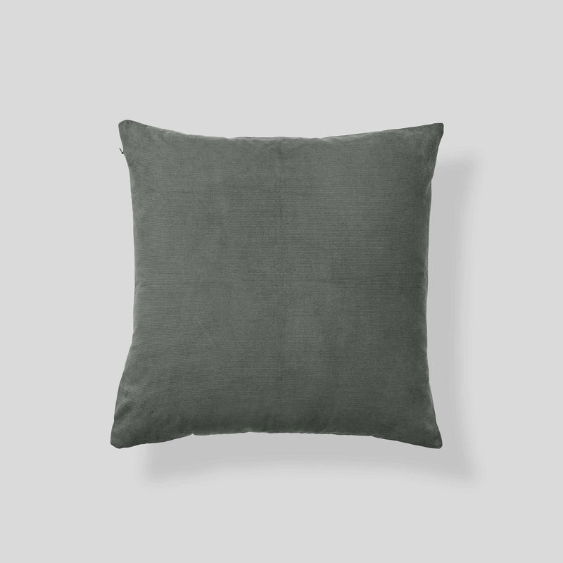 Organic cotton corduroy cushion in Khaki - square