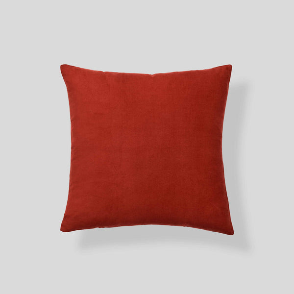 Organic cotton corduroy cushion in Rust - square