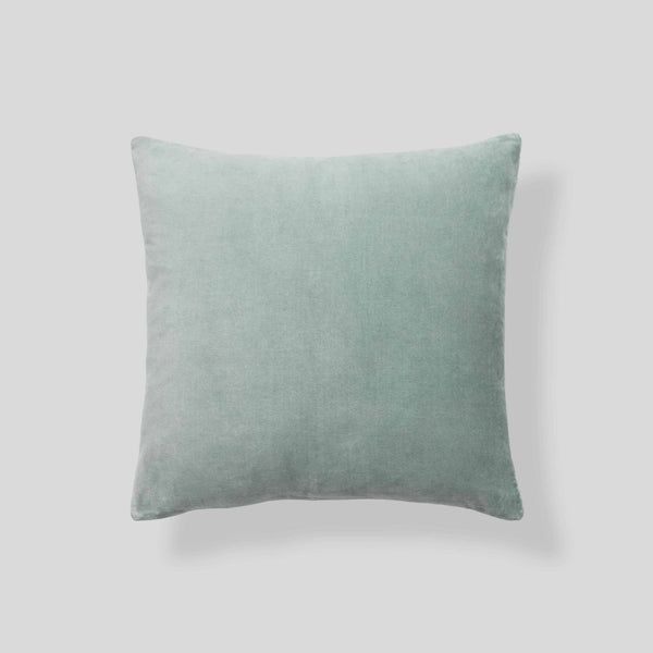 Organic cotton velvet  cushion in Sage - square