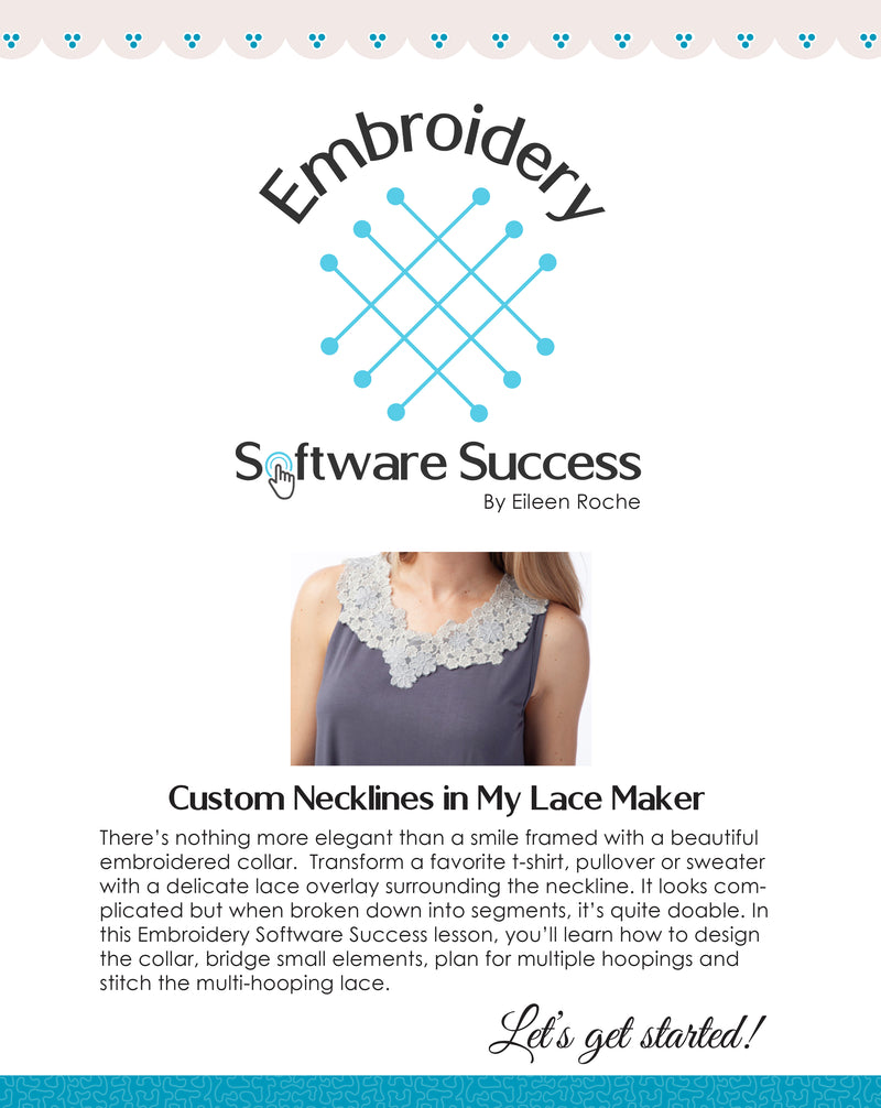 Custom Necklines in My Lace Maker