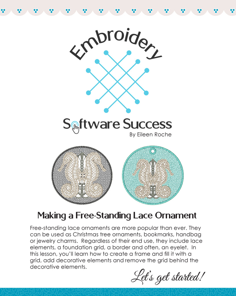Free-Standing Lace Ornaments in My Lace Maker