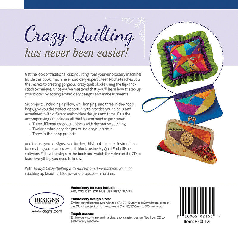 Todays Crazy Quilting With Your Embroidery Machine Designs In