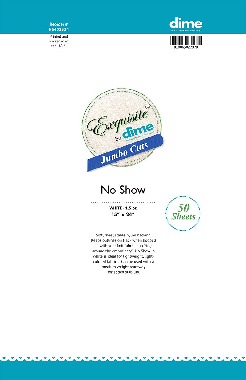 Exquisite No Show Cutaway (1.5 oz)