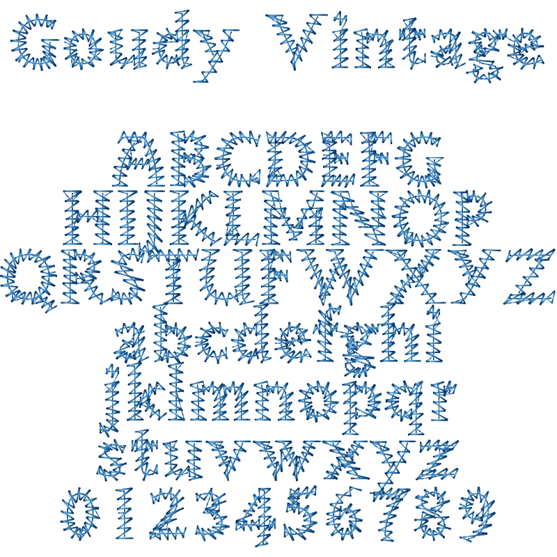 Vintage Font + Free Vintage Embroidery Thread Bundle