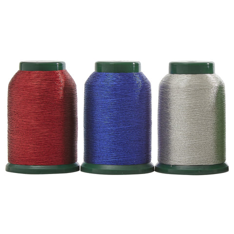 Patriotic Metallic Thread Pack