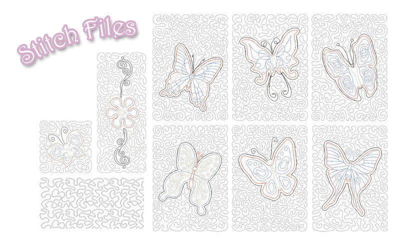 Stipple! Butterflies
