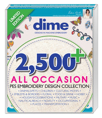2500 All Occasion PES Embroidery Design Collection