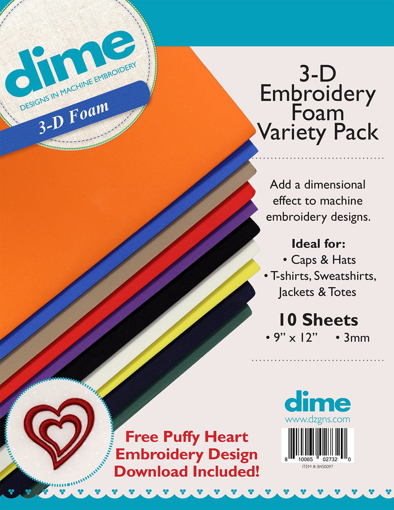 3-D Embroidery Foam Variety Pack