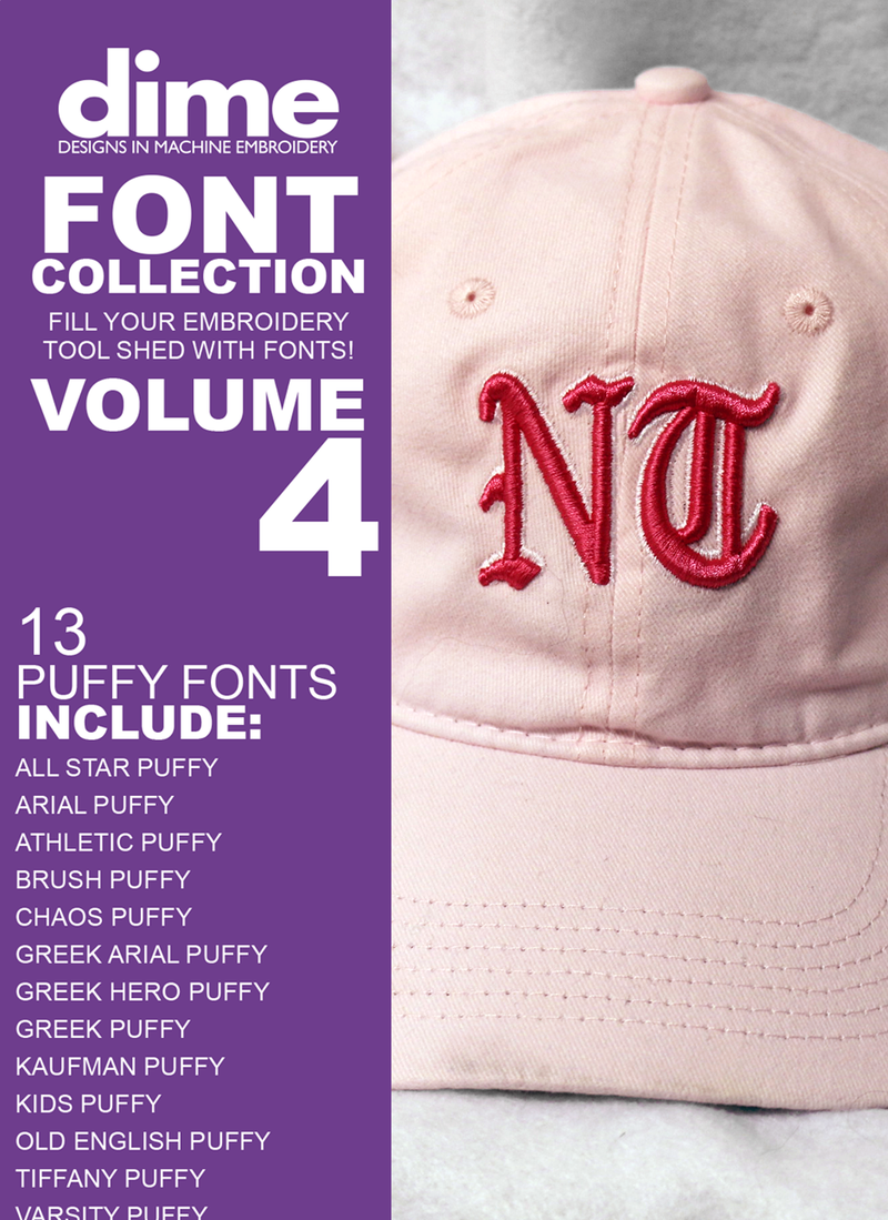 Font Collection Volume 4: Puffy Fonts