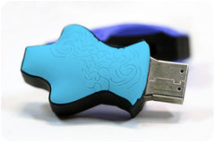 USB Flash Drive:  Dressed in Blue!