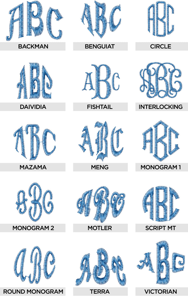 Font Collection Volume 3: Monogram Fonts