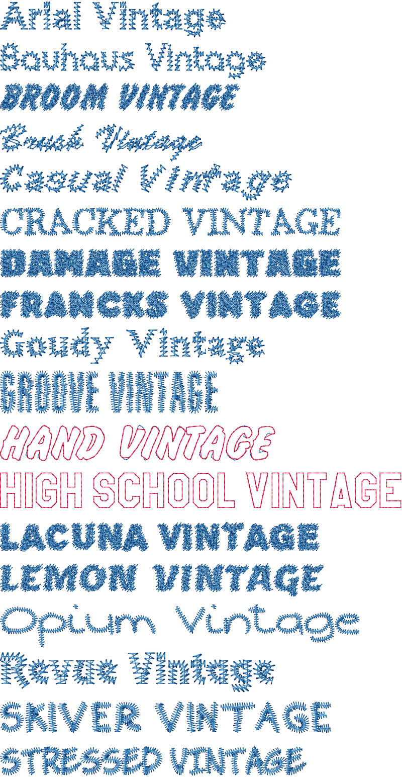 Font Collection Volume 5: Vintage Fonts