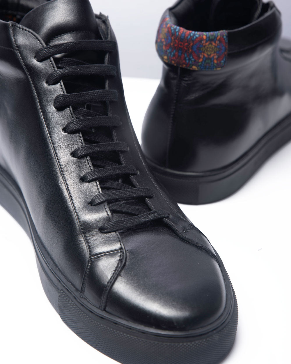 Slick Talk High Top Sneakers- Black