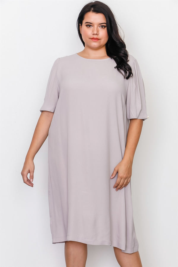 Grey Plus Size Alexis Midi Dress