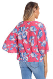 Rose Lily Khimono Tie-Front Blouse