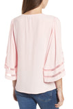 Pink Amber V-Neck Blouse