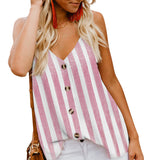 Pink Aria Button-Front Tank