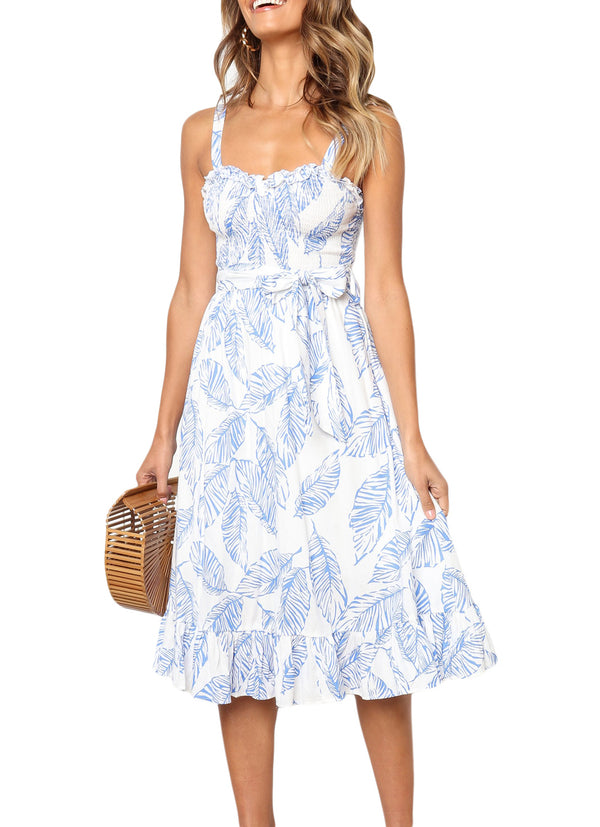 Blue Mia Midi Dress