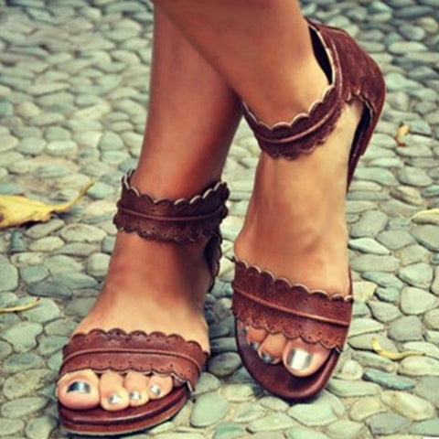 Casual Pure Color Sandals Shoes