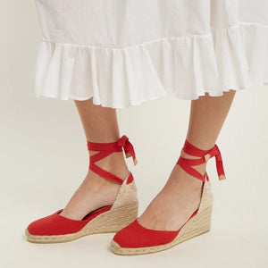 Fashion Plain Strappy Wedge Heel Sandal