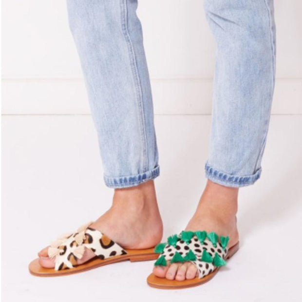 Travel Flat Peep Toe Comfort Slippers