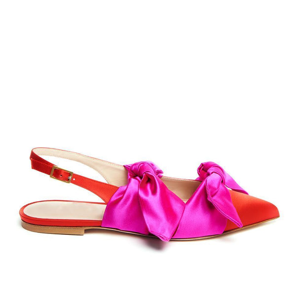 Women's Buckle Bow Pointed Flat Shoes